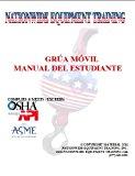 Book Cover GRÚA MÓVIL MANUAL DEL ESTUDIANTE / MOBILE CRANE OPERATOR STUDY GUIDE {ESPANOL}