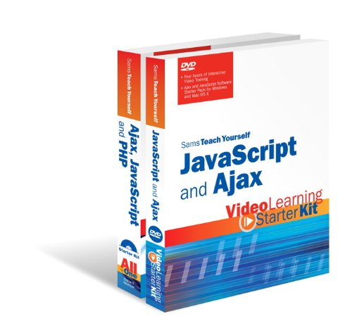 Book Cover Sams Teach Yourself JavaScript and Ajax: Video Learning Starter Kit Bundle