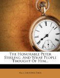 Book Cover The Honorable Peter Stirling, And What People Thought Of Him...