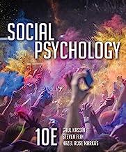 Book Cover Social Psychology (MindTap for Psychology)