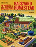 Book Cover 40 Projects for Building Your Backyard Homestead: A Hands-on, Step-by-Step Sustainable-Living Guide (Gardening)