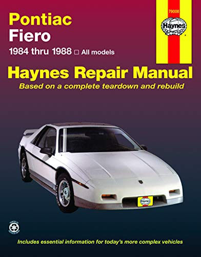 Book Cover Pontiac Fiero '84'88 (Haynes Repair Manuals)