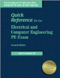 Book Cover Quick Reference for the Electrical and Computer Engineering PE Exam, 2nd ed.