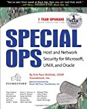 Book Cover Special OPs: Host and Network Security for Microsoft, Unix, and Oracle