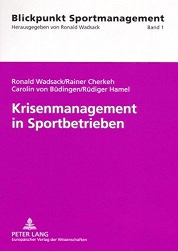 Book Cover Krisenmanagement in Sportbetrieben (Blickpunkt Sportmanagement) (German Edition)