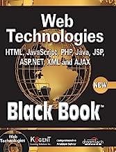 Book Cover Web Technologies: HTML, Javascript, PHP, Java, Jsp, XML and Ajax, Black Book