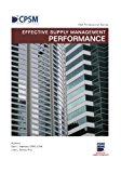 Book Cover Effective Supply Management Performance (ISM Professional Series Book 2)