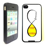 Book Cover SudysAccessories Softball Forever Softball Infinity Forever Thinshell Case Protective iPhone 4 Case iphone 4S Case