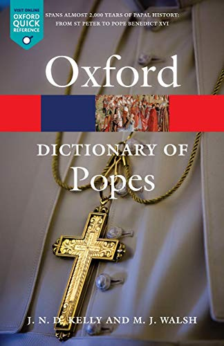 Book Cover A Dictionary of Popes (Oxford Quick Reference)