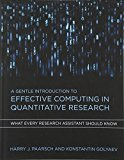 Book Cover A Gentle Introduction to Effective Computing in Quantitative Research: What Every Research Assistant Should Know (MIT Press)