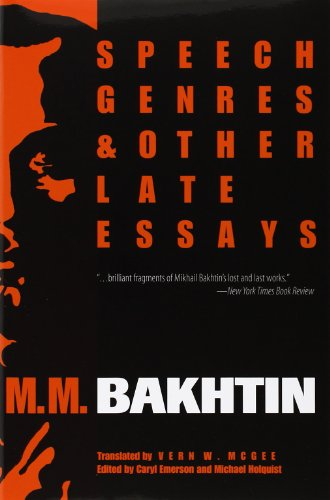 essay genre late other speech Speech genres and other late essays presents six short works from bakhtin' esthetics of creative discourse, published in moscow in 1979 this is the last of bakhtin.