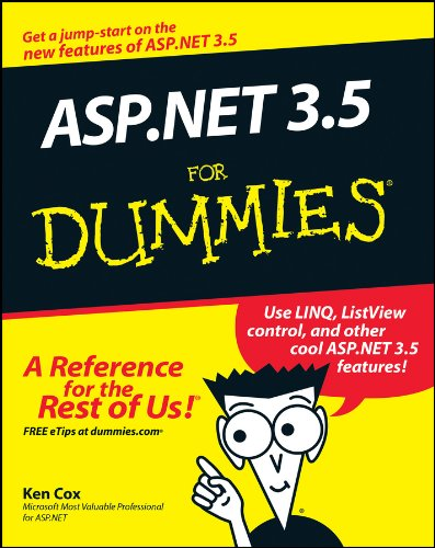 Book Cover ASP.NET 3.5 For Dummies