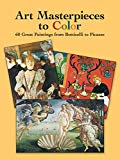 Book Cover Art Masterpieces to Color: 60 Great Paintings from Botticelli to Picasso (Dover Art Coloring Book)