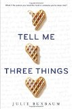 Book Cover Tell Me Three Things