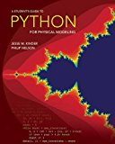 Book Cover A Student's Guide to Python for Physical Modeling