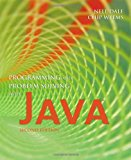 Book Cover Programming and Problem Solving With Java