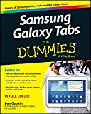 Book Cover Samsung Galaxy Tabs For Dummies