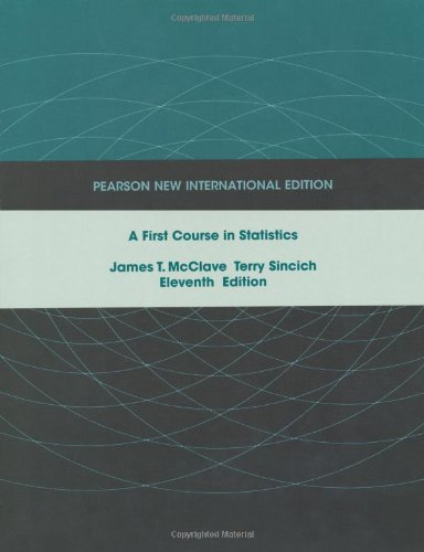 First Course in Statistics, A: Pearson New International Edition