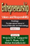 Book Cover Entrepreneurship: Values and Responsibility (Praxiology)