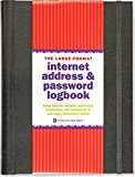 Book Cover Large-Format Internet Address & Password Logbook