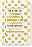 Book Cover Gold Dots Internet Address & Password Logbook