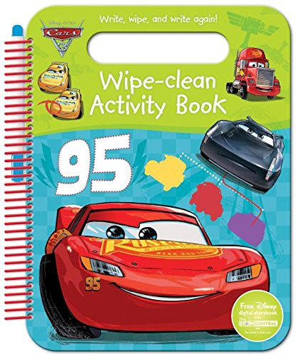 Book Cover Disney Pixar Cars 3 Wipe-Clean Activity Book