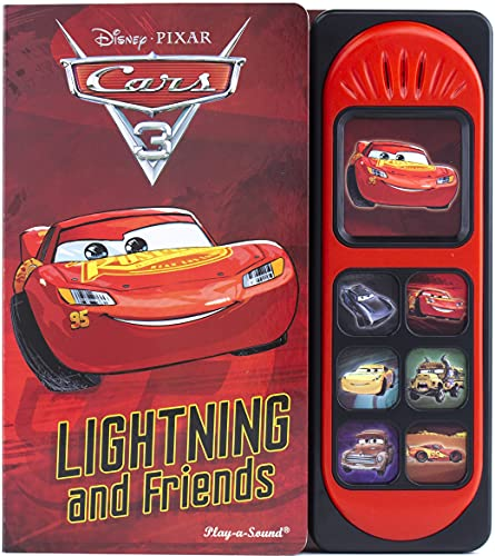Book Cover Disney Pixar Cars 3 - Lightning McQueen and Friends Little Sound Book - Play-a-Sound - PI Kids