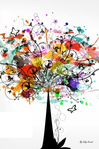 Book Cover Colorful Tree Vector Journal (My Daily Journal)