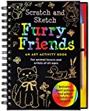 Book Cover Scratch and Sketch Furry Friends: An Art Activity Book for Animal Lovers and Artists of All Ages (Scratch & Sketch)