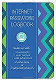 Book Cover Internet Password Logbook - Pattern Edition: Keep track of: usernames, passwords, web addresses in one easy & organized location