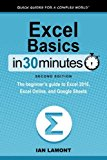 Book Cover Excel Basics In 30 Minutes (2nd Edition): The quick guide to Microsoft Excel and Google Sheets