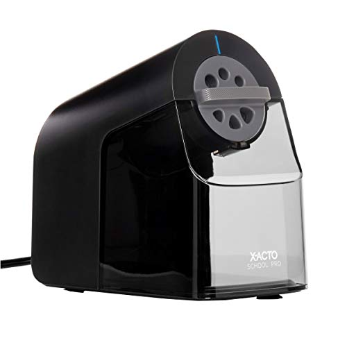 Book Cover X-ACTO School Pro Classroom Electric Pencil Sharpener, Blue, 1 Count (1670)