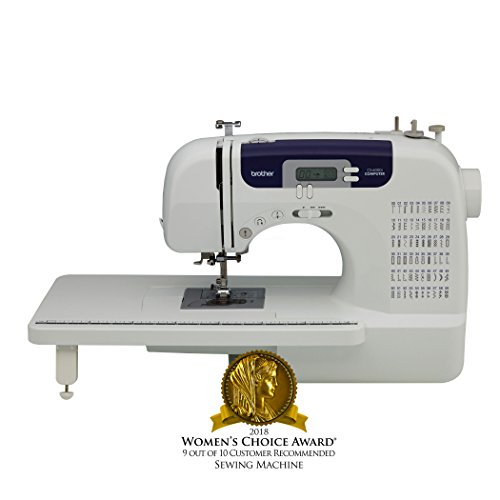 Book Cover Brother CS6000i Feature-Rich Sewing Machine With 60 Built-In Stitches, 7 styles of 1-Step Auto-Size Buttonholes, Quilting Table, and Hard Cover