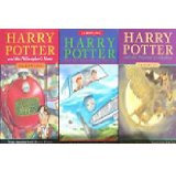 Book Cover Harry Potter and The Philosopher's Stone,Chamber of Secrets and Prisoner of Azkaban
