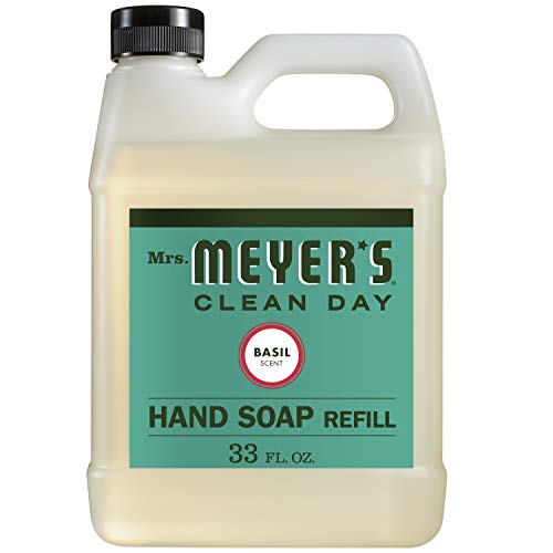 Book Cover Mrs. Meyer's - Liquid Hand Soap Refill, Basil - 33 Ounce