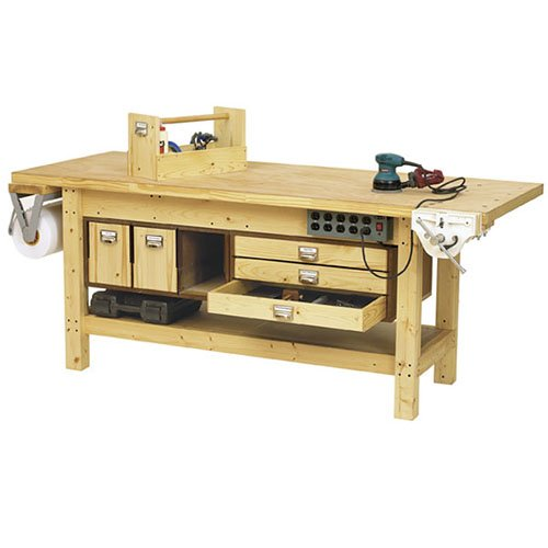 Book Cover Basic Workbench and 6 Ways to Beef it Up: Downloadable Woodworking Plan