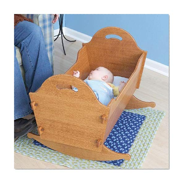 Book Cover Heirloom Cradle with Storage Box: Downloadable Woodworking Plan