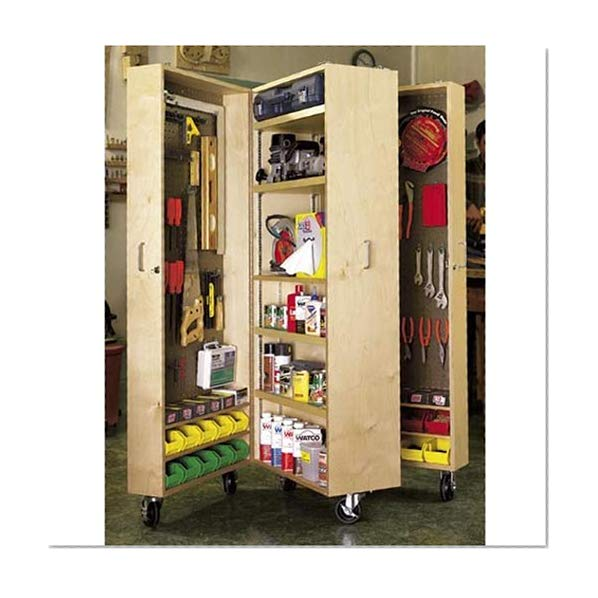 Book Cover Mobile Tool Cabinet: Downloadable Woodworking Plan