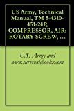 Book Cover US Army, Technical Manual, TM 5-4310-451-24P, COMPRESSOR, AIR: ROTARY SCREW, 750 100 PSI, WHEEL-MOUNTED, DED SULLAIR MODEL 750 DP, (NSN 4310-01-053-3891), military manauals, special forces