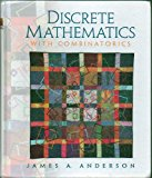 Book Cover Discrete Mathematics With Combinatorics by James A. Anderson - Hardcover - 1st Edition, 2nd Printing 2001