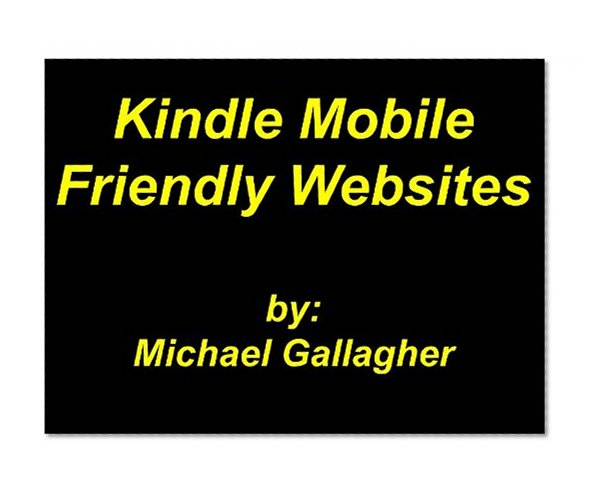 Book Cover Kindle Mobile Friendly Websites