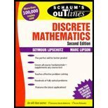 Book Cover Schaum's Outline of Discrete Mathematics by Lipschutz,Seymor; Lipson,Marc. [1997,2nd Edition.] Paperback