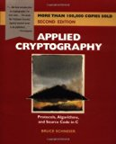 Book Cover Applied Cryptography: Protocols, Algorithms, and Source Code in C, 2nd Edition