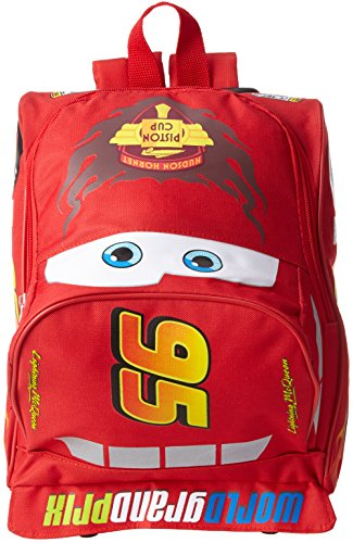 Book Cover Disney Big Boys' Cars Lightining Mcqueen Mini Rolling Backpack