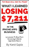 Book Cover What I Learned Losing $7,211 In The iPhone Apps Business: 13 Lessons To Stop From Becoming A Mobile App Store Failure