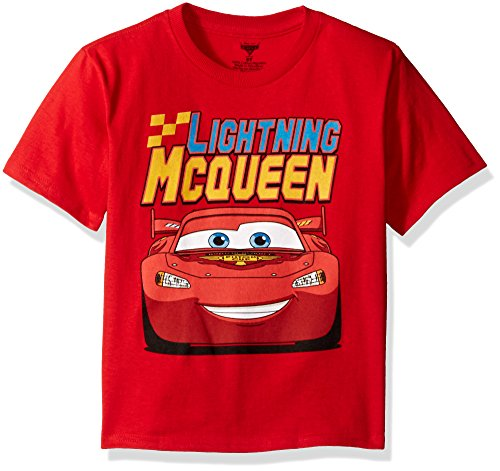 Book Cover Disney Boys' Cars Lightning McQueen T-Shirt