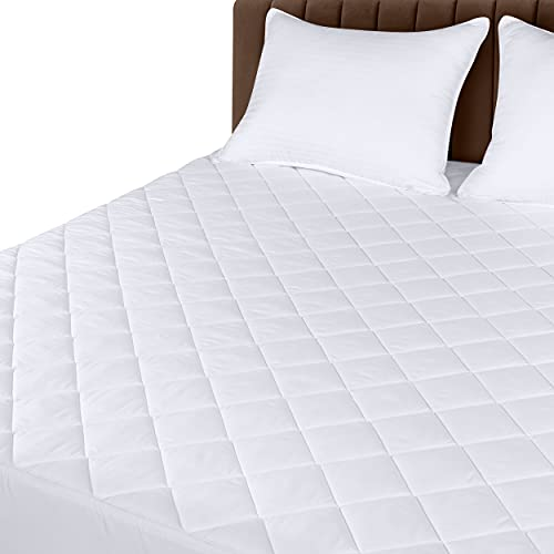 Book Cover Utopia Bedding Quilted Fitted Mattress Pad (Full) - Mattress Cover Stretches up to 16 Inches Deep - Mattress Topper
