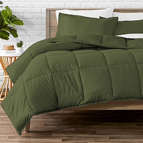 Book Cover Bare Home Kids Comforter Set - Twin/Twin Extra Long - Goose Down Alternative - Ultra-Soft - Premium 1800 Series - Hypoallergenic - All Season Breathable Warmth (Twin/Twin XL, Cypress Green)