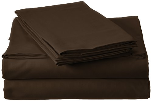 Book Cover Millenium Linen Queen Size Bed Sheet Set - Coffee - 1600 Series 4 Piece - Deep Pocket - Cool and Wrinkle Fre e - 1 Fitted, 1 Flat, 2 Pillow Cases