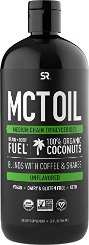 Book Cover Premium MCT Oil derived only from Non-GMO Coconuts - 32oz BPA free bottle | Great in Keto Coffee,Tea, Smoothies & Salad Dressings | Non-GMO Project Verified & Vegan Certified (Unflavored)